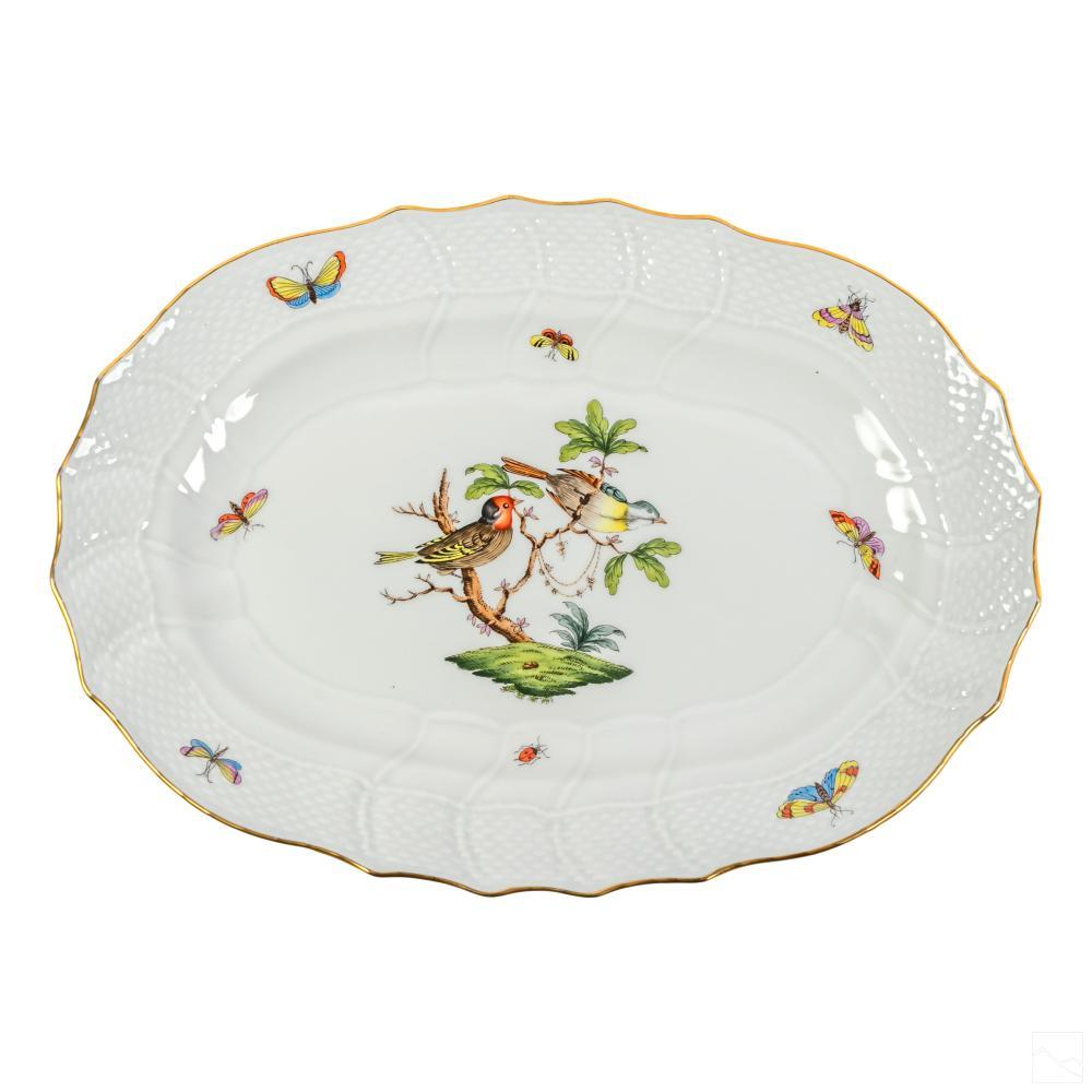 Herend Oval Rothschild Bird Serving Platter #1103