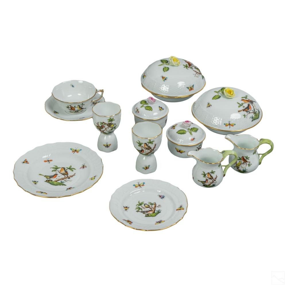 Herend Porcelain Rothschild & Bird Butterfly 25 Pc