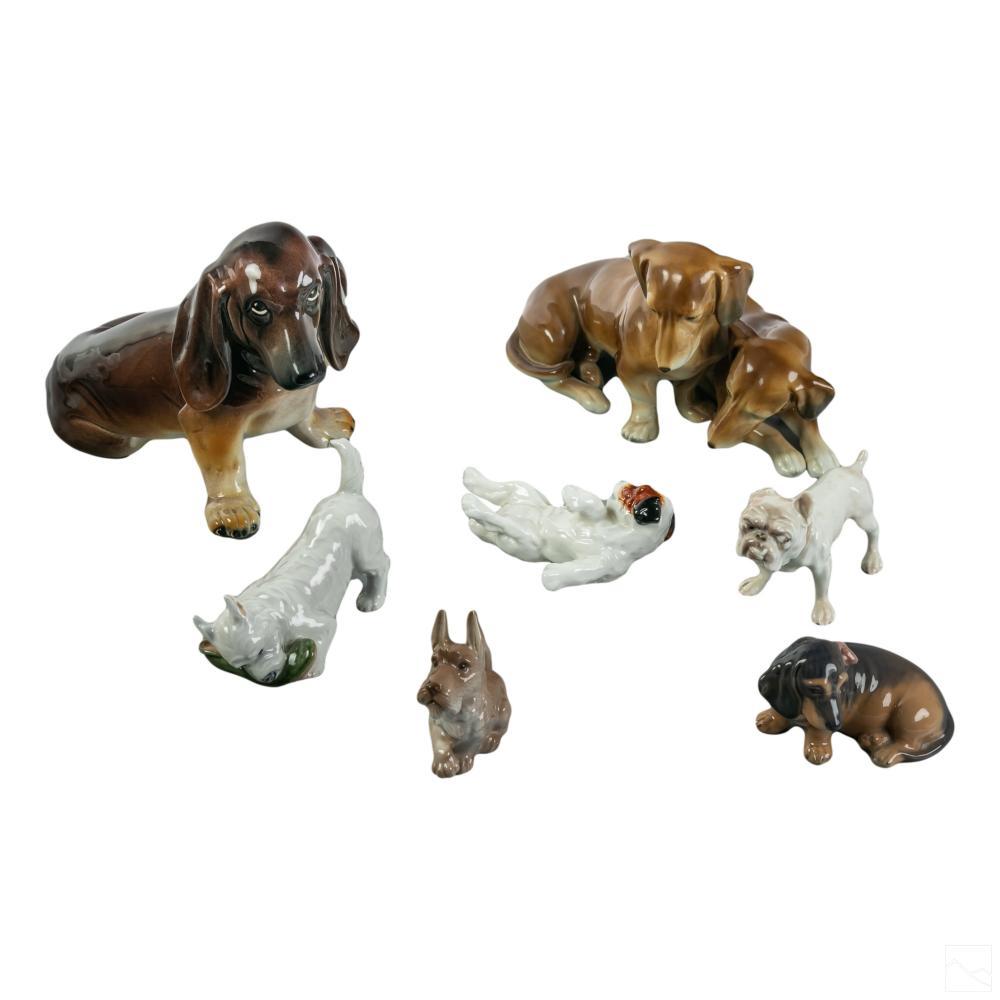 Porcelain Dog Figurines Copenhagen Doulton German