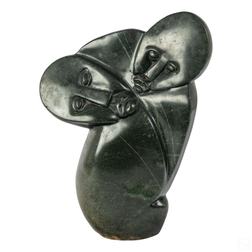 African Stone Carved Shona Figural Art Sculpture
