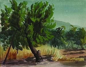Victor Michail Arnautoff, (American, 1896-1979), Landscape