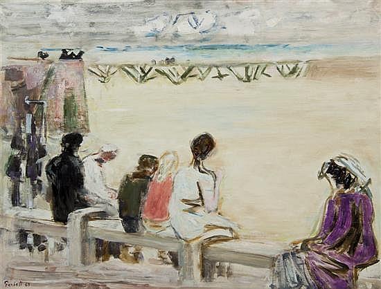 *Alexandre Sacha Garbell, (French, 1903-1970), Femme en Violet, 1963