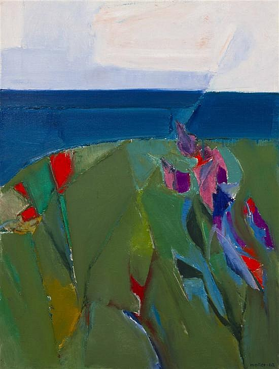 *Hans Moller, (American, 1905-2000), Flowers by the Sea, 1962