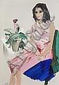 *Manoucher Yektai, (American, b. 1922), Eleni, 1965, Manoucher Yektai, Click for value
