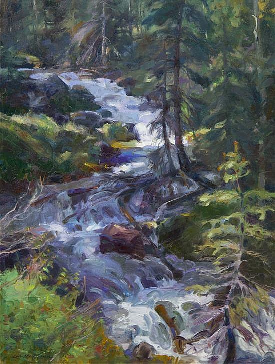 Kevin Macpherson, (American, b. 1956), Taos Mountain Stream