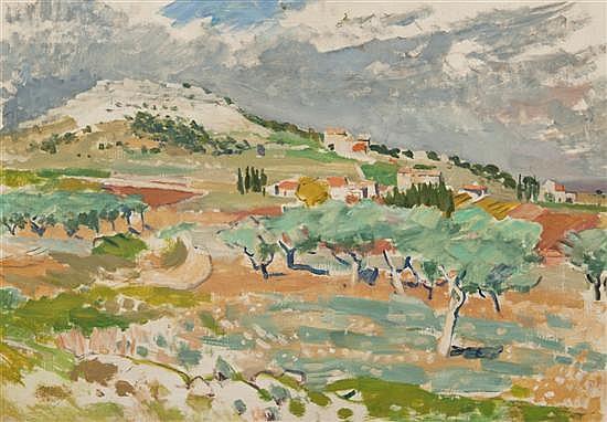 *Hans Olde, (German, 1895-1987), Provencalische Landschaft, 1957