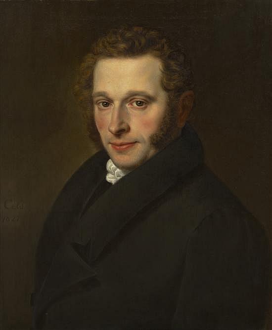 Cornelis Cels, (Belgian, 1778-1859), Portrait of a Gentleman, 1827