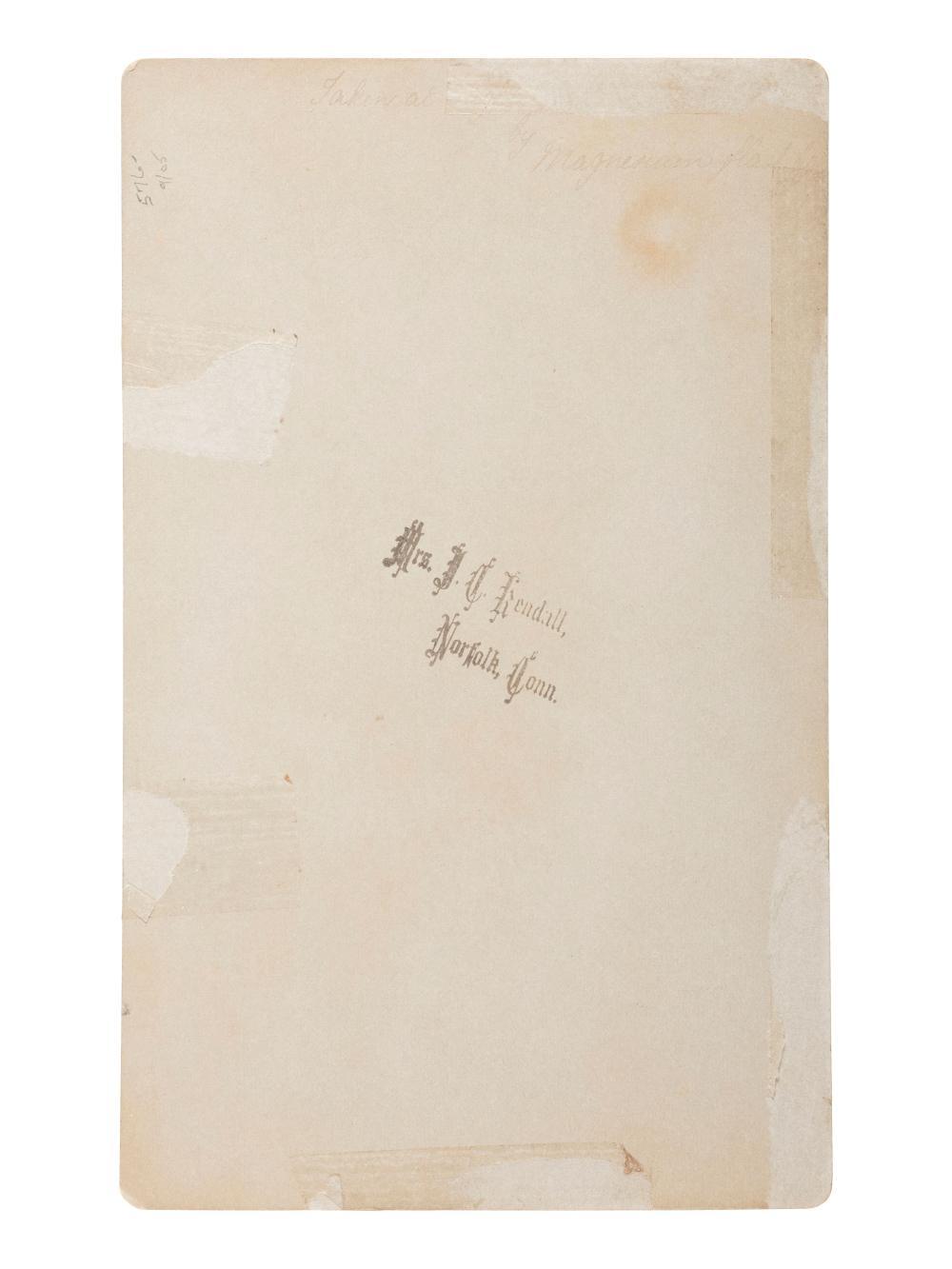 [HARRISON, Benjamin]. Two large format albumen photographs showing Benjamin Harrison campaign lanterns.