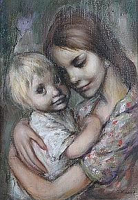 Georgette Nivert, (French, 20th Century), Mother and Child