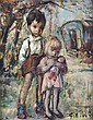 Georgette Nivert, (French, 20th Century), Girl and Boy