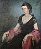 Oskar Gross, (American, 1871-1963), Portrait of Woman, Oskar Gross, Click for value