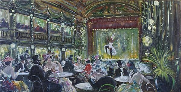 Antonio DeVity, (Italian, 1901-1993), Parisian Club Scene