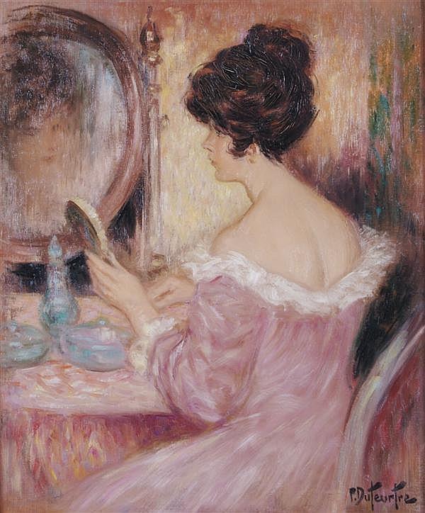 Pierre Eugène Duteurtre, (French, b. 1911), Femme a la Toilette