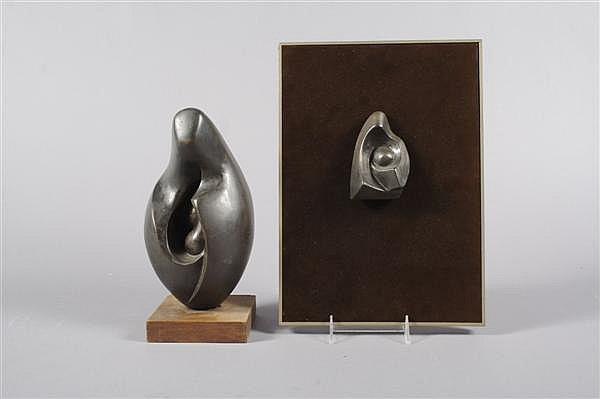 *Zvi Yehuda Aldouby, (Israeli, 1904-1996), Two Sculptures entitled
