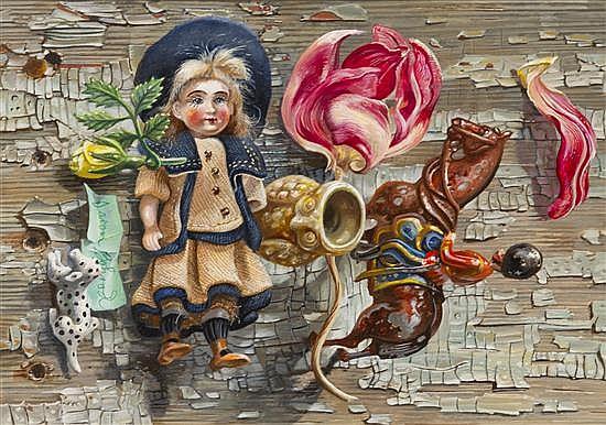 Aaron Bohrod, (American, 1907-1992), Small Things Childhood Memories