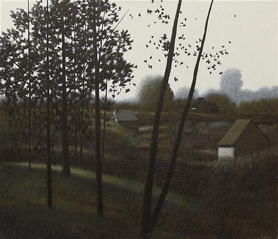 Robert Kipniss, (American, b. 1931), Eastern Countryside