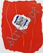 * Robert Motherwell, (American, 1915-1991), Label Series Red, 1973