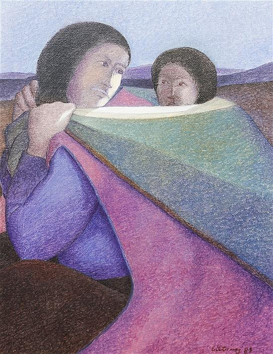 Ernesto Gutierrez, (Peruvian, b. 1939), Young Mother, 1983