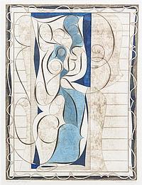 Arthur Thrall, (American, b. 1926), Palimpsest Motif IV