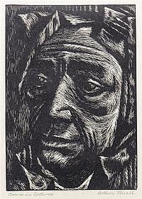 Arthur Thrall, (American, b. 1926), Clown in Costume