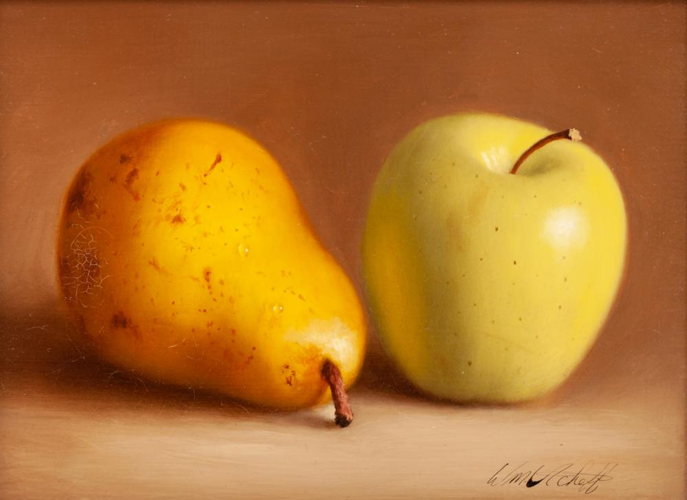 William Acheff (American, b. 1947) Apple and Pear