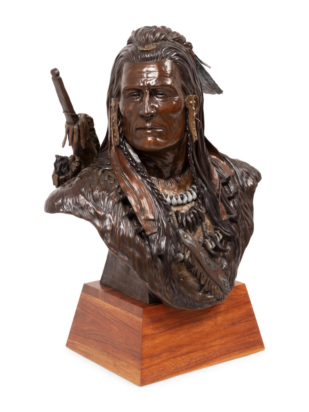 Terry Murphy (American, b. 1950) Bust of a Warrior, edition 33/36, 1993