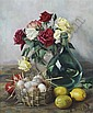 *Henk Bos, (Dutch, 1901-1979), Still Life with Flowers and Fruit, Hendrik (1901) Bos, Click for value