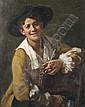 Albert Friedrich Schröder, (German, 1854-1939), Portrait of a Young Man, Albert (1854) Schröder, Click for value