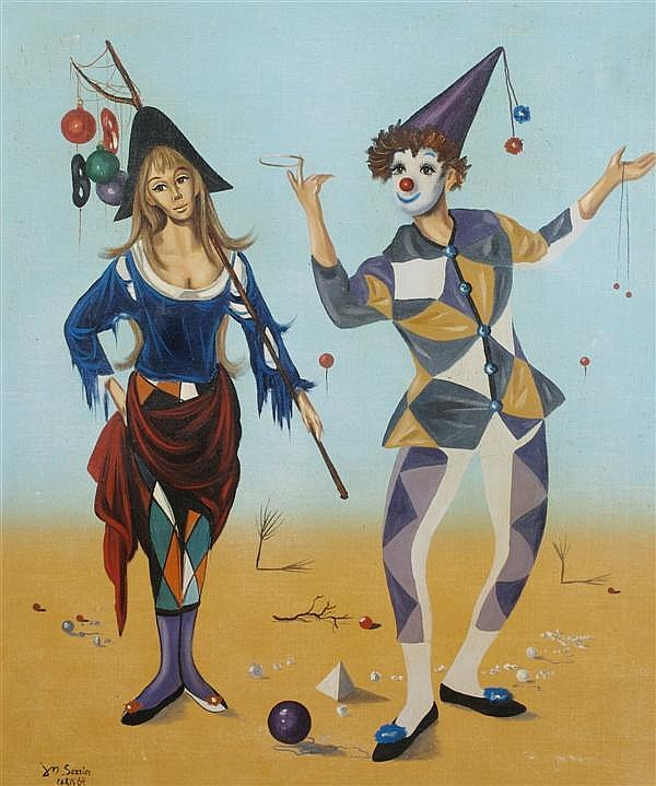 Jean-Pierre Serrier, (French, 1934-1989), Surrealist Circus