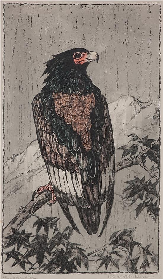 * Otto Eduard Voigt, (German, 1870-1949), Hawk