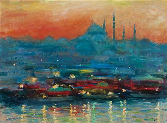 Nino Pippa, (Italian, b. 1950), Istanbul Twilight