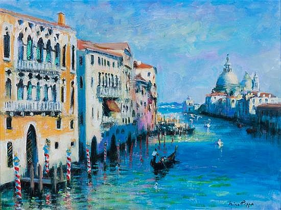 Nino Pippa, (Italian, b. 1950), Venice, The Grand Canal, Light and Shade