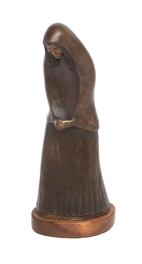 * An American Bronze Figure Height 10 inches.