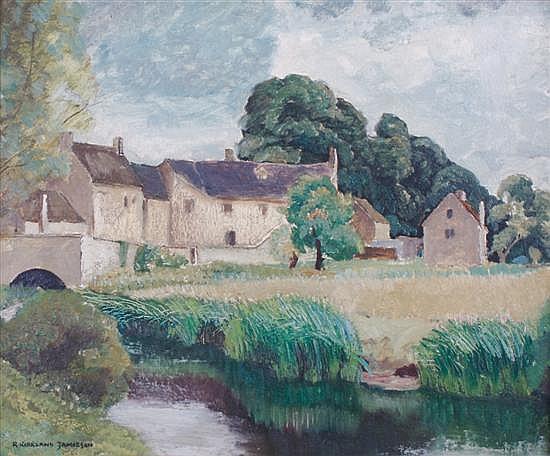 Robert Kirkland Jamieson, (British, 1881-1950), A Mill on the Windrush