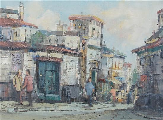 Theodorus van Oorschot, (Dutch, 1910-1989), Street Scene