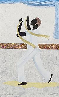 Allen Stringfellow, (American, 1923-2004), Praise Dancer Man, 2001