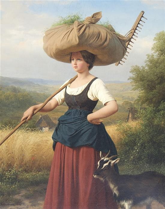 Friedrich Eduard Meyerheim, (German, 1808-1879), Returning from the Fields, 1849