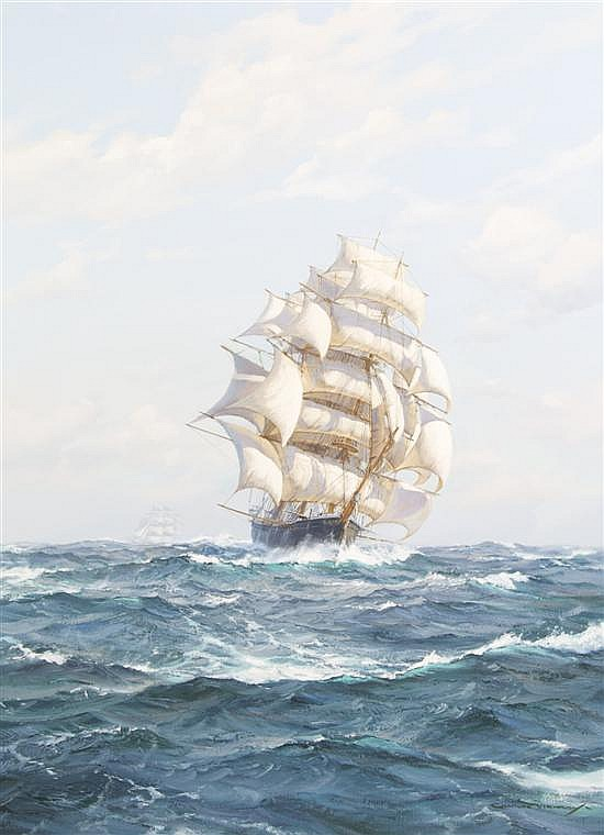 Charles Vickery, (American, 1913-1998), Stun'sls Alow and Aloft