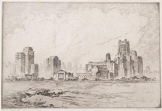 William Kent Hagerman, (American, 20th Century), N.W. Univ. Chicago Campus