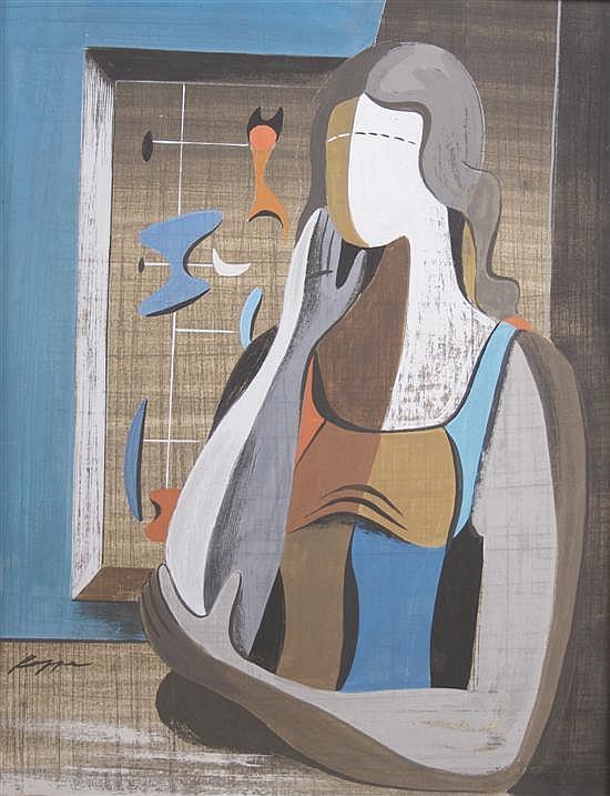 Richard Koppe, (American, 1916-1973), Untitled (Woman with Raised Hand), circa 1945