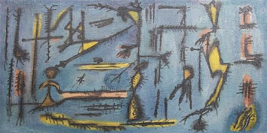 Ezio Martinelli, (American, 1913-1980), Untitled (Abstraction), circa 1945