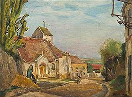 *Andre Hebuterne, (French, 1894-1979), Eglise de Buffemont