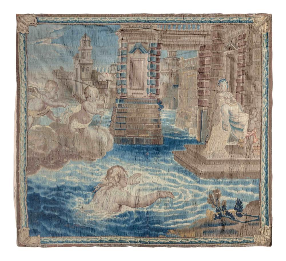 A Flemish Mythological Tapestry Depicting the Story of Hero and Leander