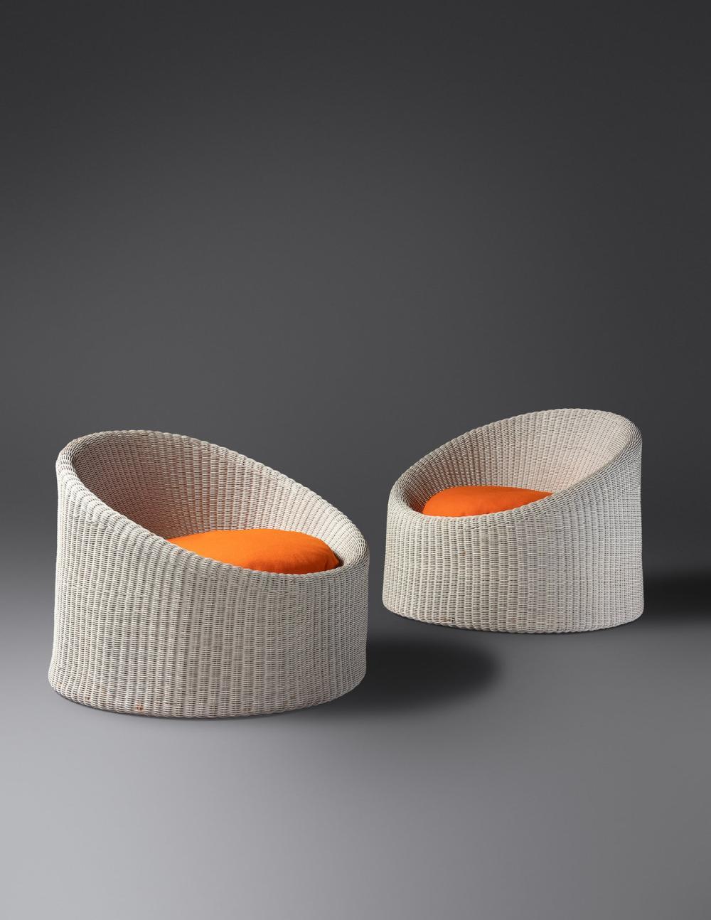 Eero Aarnio (Finnish, b. 1932) Pair of Lounge Chairs