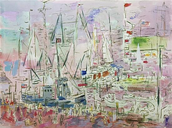 *Francis Chapin, (American, 1899-1965), Harbor
