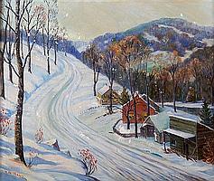 William John Krullaars, (American, 1878-1945), Winter Landscape