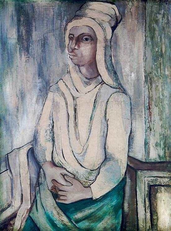 Charles Sebree, (American, 1914-1985), Woman in White