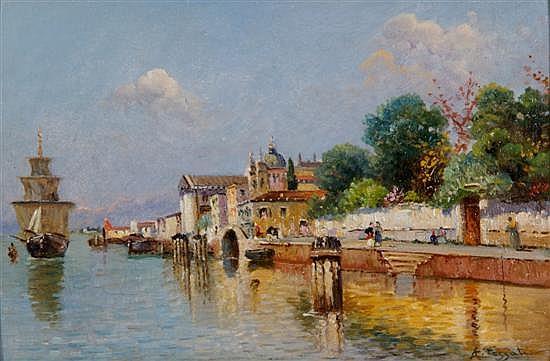 Agostino Fossati, (Italian, 1830-1904), View of Venice