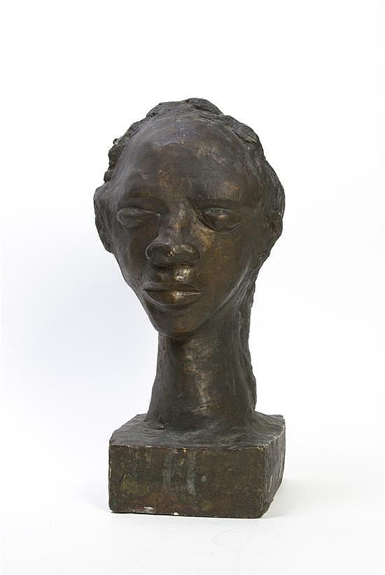Margaret Taylor Goss Burroughs, (American, b. 1917), Head of Woman