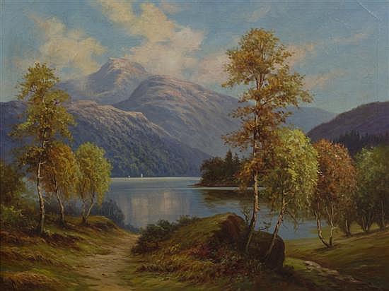 *Norman Badgley Wilson, (British, b. 1906), Path to The Lake